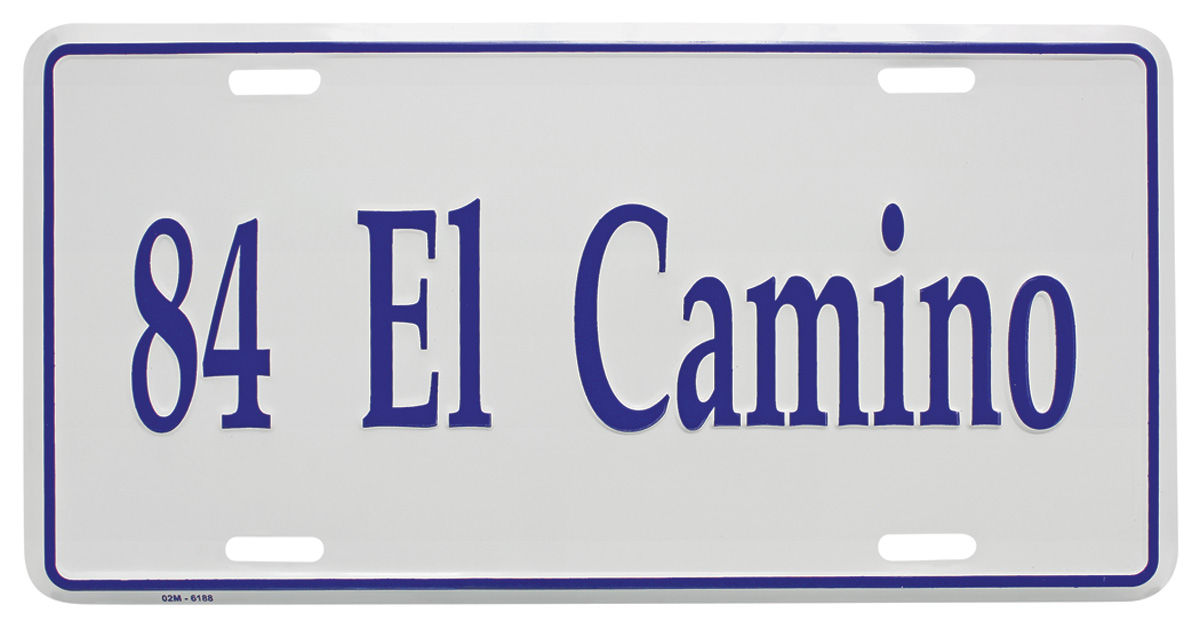 "Photo of License Plate, ""El Camino"" (Custom Embossed) El Camino"