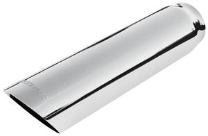 "1961-73 LeMans Exhaust Tip, Angle Cut (Stainless Steel) 3"" Dia. (2-1/2"" Pipe, 13"" Length) (Weld-on)"