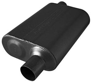 "1964-1977 Chevelle Muffler, Stainless Steel 40 Series - Offset/Offset 2-1/2"" I/O, by FLOWMASTER"