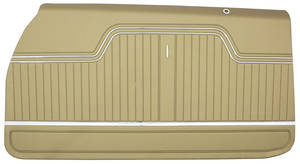 1969 Door Panels, Top Rail Assembled Chevelle Convertible, Rear