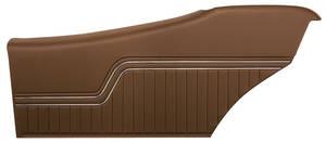 1970-72 Door Panels, Top Rail Assembled Chevelle Coupe, Rear