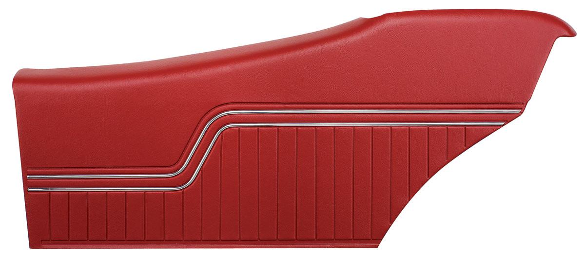 Pui Door Panels Assembled Top Rail Chevelle Coupe Rear