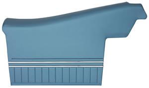 1970-72 Door Panels, Top Rail Assembled Chevelle Convertible, Rear