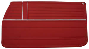 1968 Door Panels, Top Rail Assembled Chevelle Front