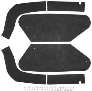 1961 Bonneville Fenderwell Seals, Inner (Early) w/Staples (6-Piece)