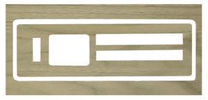 1966-1967 GTO Air Conditioning & Heater Wood Grain Insert Heater (Wood Veneer)