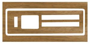 1966-1967 GTO Air Conditioning & Heater Wood Grain Insert Heater (Vinyl)