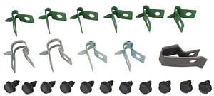 "1970-72 GTO Fuel Line Clips, Original 3/8"", 22-Piece"
