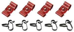 1966-67 GTO Brake Line Clips, Original Style 14-Piece, H.O. Only