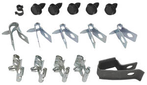 1968-69 Bonneville Brake Line Clips, Original Style 15-Piece