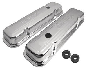 1961-73 GTO Valve Covers, Chrome Tall, by Edelbrock