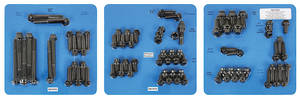 1959-77 Bonneville Engine Fastener Kit, High-Performance 350, 400 and 455 12-Point Head - Black, by ARP