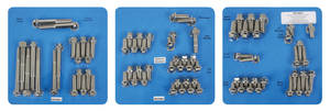 1961-73 Tempest Engine Fastener Kit, High-Performance 350, 400 and 455 Hex Head - Stainless Steel