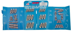 1961-73 GTO Engine Fastener Kit, High-Performance 350, 400 and 455 12-Point Head - Stainless Steel