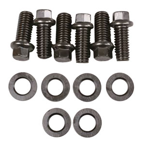 1961-73 Tempest Motor Mount Bolts V8, 12-Pc. Hex Head - Black Oxide