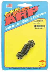 1961-73 GTO Fuel Pump Mounting Bolts Black, 12-Point, by ARP