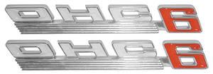 "1967-1967 LeMans Fender Emblem, 1967 ""OHC 6"""