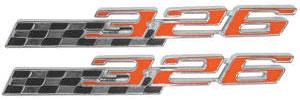 """1965-1966 LeMans Fender Emblem, 1965-66 Tempest/LeMans """"326"""""""