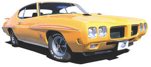 GTO Body Decal Kit, 1969 Judge Complete White/Yellow/olive