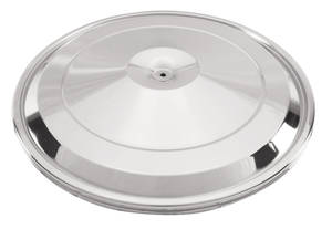 "1967 Bonneville Air Cleaner Lid, 17"" Replacement Chrome/H.O."