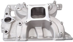 1965-73 Tempest Intake Manifold, Torker II Satin, Non-EGR