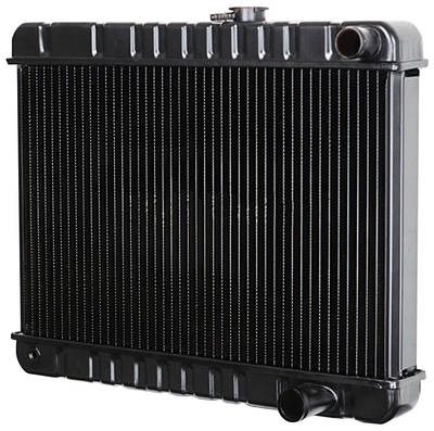 "1966 LeMans Radiator, Desert Cooler 4-Row At 17-3/8"" X 23-3/4 X 2-5/8"" - w/AC (Driver Filler)"