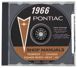 1966-1966 Bonneville Factory Shop Manuals, CD-ROM Shop & Body