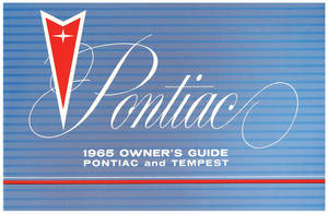 1965 Pontiac Owner's Manuals Tempest
