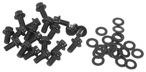 1961-73 GTO Oil Pan Bolts 326-455 12-Point Head - Black Oxide