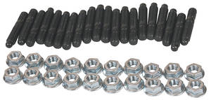1961-73 LeMans Oil Pan Stud Black Oxide, Hex Head