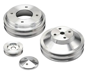 1969-73 GTO Pulley Set, V-Groove Water Pump, Alternator & Power Steering, by March Performance