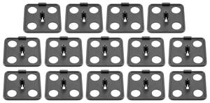 1963-1976 Catalina Underhood Insulation Clips All Models, Plastic (14-Piece)