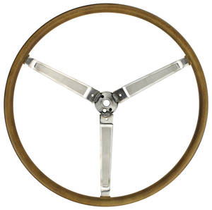 1967-1967 Bonneville Steering Wheel, Simulated Wood Sport