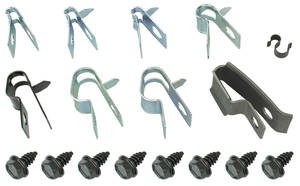 1971-72 GTO Brake Line Clips, Original Style 17-Piece