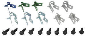 "1971-1972 Bonneville Fuel Line Clips, Original 1/4"" & 5/16"" EMS, 20-Piece"