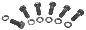 1964-77 Bonneville Pressure Plate Bolts Hex Head, Black (6-Piece)
