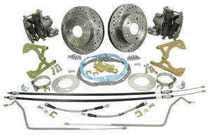 1969-72 Grand Prix Brake Conversion Kits, Rear (Disc) Deluxe