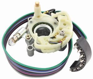 "1965-66 GTO Turn Signal & Hazard Light Switch Assembly ""BPC"" (Metal Body) Column, Auto, w/o Tilt ""Boyne"""