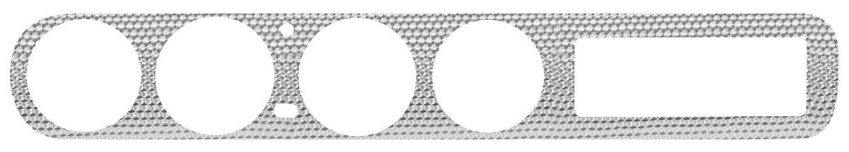 Photo of LeMans Dash Insert, Swirled Aluminum HT, complete dash insert