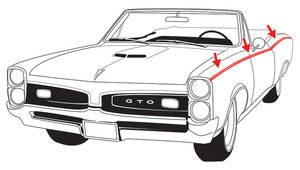 1967-1967 GTO Body Stripe Stencil Kit, 1967 GTO, by Phoenix Graphix
