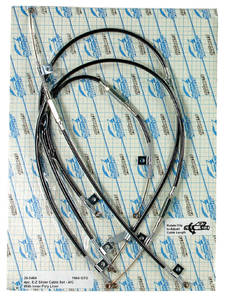 1969-1971 GTO Heater Control Cables 3 Cables, by Old Air Products