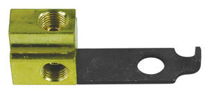 "1966 GTO Brake Fluid Distribution Block (Solid Brass) w/1/4"" Rear Line"