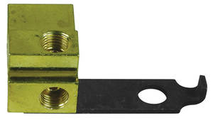 1964-66 Tempest Brake Fluid Distribution Block (Solid Brass) w/Dual Master Cyl.