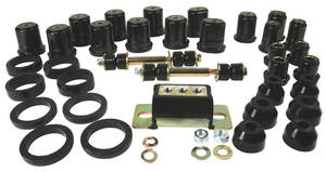 1966 LeMans Total Polyurethane Kit w/Round Front Lower Control Arm Bushings, by Prothane