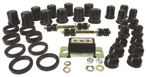 1967-1972 GTO Total Polyurethane Kit w/oval Front Lower Control Bushings, by Prothane