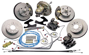 1967-1967 LeMans Brake Kit; Front & Rear (Disc), by CPP