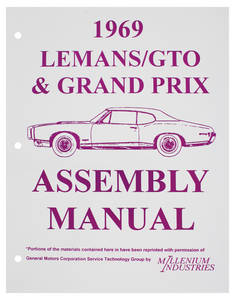 1969 Tempest Factory Assembly Line Manuals