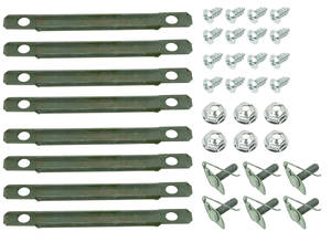 Chevelle Vinyl Top Molding Clip Sets, 1966-67 Small Clip Set (36-Piece)