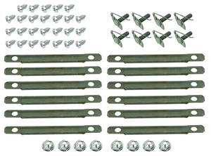 Chevelle Vinyl Top Molding Clip Sets, 1966-67 Large Clip Set (52-Piece)