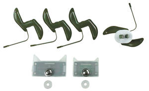 1967-1967 GTO Door Molding Clips, 1967 Lower Two Sets Required
